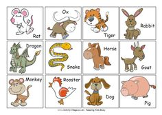 Chinese zodiac cards