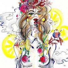 @sailorsan 's illustrations are so refreshing . #fashion #fashionillustration #illustrations