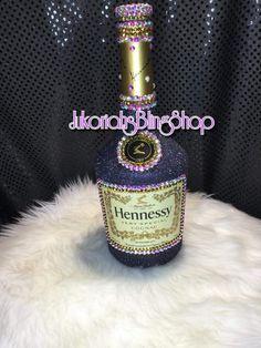 Bling Liquor Bottles – Page 2 – Jukoriahsblingshop Bedazzled Liquor Bottles, Decorated Liquor Bottles, Bling Bottles, Glitter Wine Bottles, Alcohol Bottle Decorations, Liquor Bottle Crafts, Diy Bottle, Hennessy Bottle, Bottle Tattoo