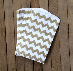Gold - Candy Bags – Chevron. Find them here: www.rufflesandsweets.com