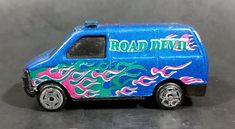 Vintage Made in China Road Devil Blue w/ Pink & Green Flames Van No. 8074 Die Cast Toy Car Vehicle https://treasurevalleyantiques.com/products/vintage-made-in-china-road-devil-blue-w-pink-green-flames-no-8074-die-cast-toy-car-vehicle #Vintage #MadeInChina #RoadDevil #Blue #Pink #Green #Flames #Vans #DieCast #Toys #Cars #Vehicles #Autos #Automobiles #Graphics #Rare #Collectibles #BuyNow