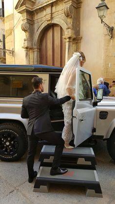Personal trainer wedding #land Rover defender