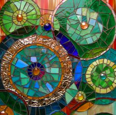 - WOW!  Mosaic in circles with intricate and beautiful colors