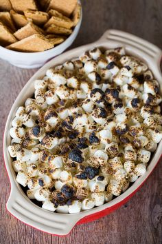 No-Bake S'mores Dip - No campfire needed! | browneyedbaker.com