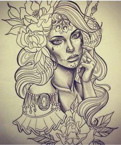 Pin by jessica pavia on tattoos 3 tattoo drawings, skull tat Future Tattoos, Love Tattoos, Beautiful Tattoos, Girl Tattoos, Tattoos For Women, Skull Tattoos, Body Art Tattoos, Tattoo Sketches, Tattoo Drawings