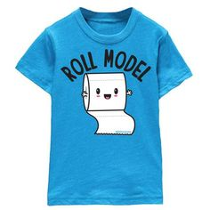 Roll Model Kids T-shirt | CostMad do not sell this idea but please visit our blog for more funky ideas