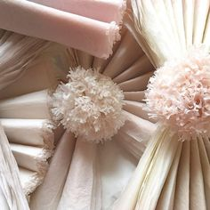 Pompom Blossom Giant paper flowers hand-dyed paper pompoms | GALLERY