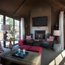 transitional porch by Kemp Hall Studio