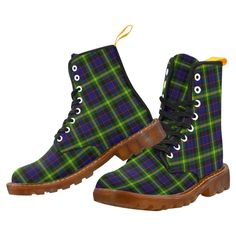 Tartan Boot – Cochrane Modern Martin Boot – Your Tartan Clan Buchanan, Clan Macdonald, Campbell Clan, Clan Macleod, Floral Combat Boots, Large Leather Tote Bag, Faux Fur Boots, Luggage Cover, Martin Boots