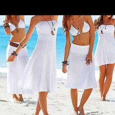 *HP*!! Swimsuit cover up/ dress This is so cool!! 4 looks in 1 dress!!! I got to small, wah!!! Dresses