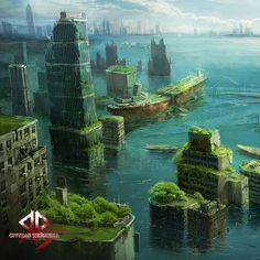 Many cities can sink under water~