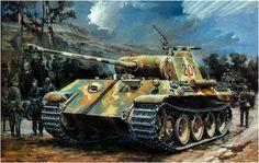 Panther Ausf. A esperando para entrar en accion.