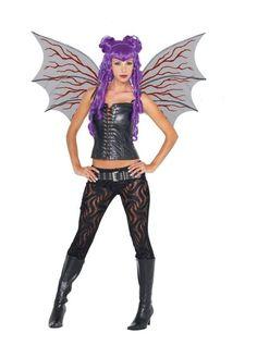 Demonette Wings Bk W/Red Veins