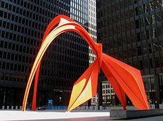 "I think we know this guy right GR?!  ""Red Flamingo Sculpture by Alexander Calder"""