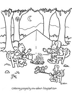 Coloring Pages for Kids by Mr. Adron: Animals Give Thanks Coloring ...