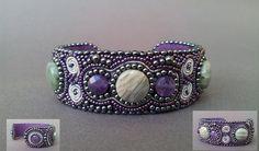 Beadembroidery bracelet