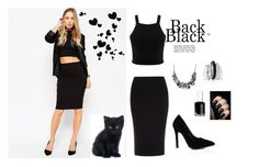 """""""Black Outfit"""" by aa-fashion-girls ❤ liked on Polyvore featuring ASOS, Roland Mouret, Miss Selfridge, Avenue, Coach and Essie"""