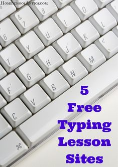 Mini reviews of 5 free typing lesson sites to help you choose the right typing lessons for your student. Typing Skills, Typing Lesson, Typing Jobs, Typing Games, Learning Sites, Student Learning, Homeschool Apps, Homeschooling, Computers