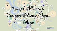 Maps for each of the parks showing current character location information
