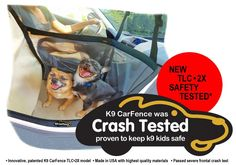 """""""Nothing Else Compares in Car Safety for Dogs!"""" 