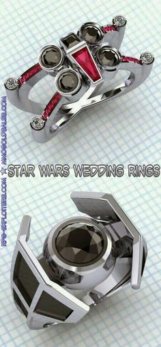 The #Force is strong in the couple who wear these rings.   #wedding #weddingring…