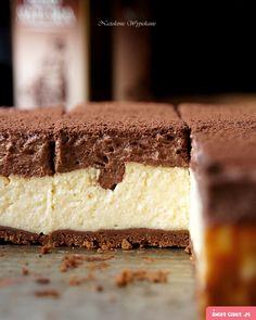 Waniliowy sernik z musem czekoladowym - Justyna Dragan Polish Desserts, Polish Recipes, Polish Food, Sweet Recipes, Cake Recipes, Dessert Recipes, Cinnamon Roll Cheesecake, Sweet Pastries, My Dessert