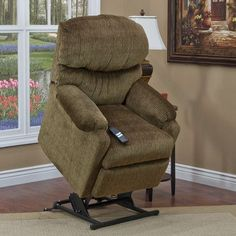 Med-Lift 53 Series Petite Wall-a-Way Reclining Lift Chair Moveable Infrared Heat: Yes, Upholstery: Bella Crypton - Toast, Vibration and Heat: None