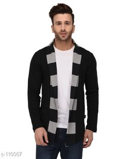Jackets Trendy Cotton Men's Shrug Fabric: Cotton Sleeves: Sleeves Are Included Size: S - 38 in M - 40 in L - 42 in XL - 44 in XXL - 46 in Length: Up to 26 in Type: Stitched Description: It Has 1 Piece of Men's Shrug Pattern: Solid Country of Origin: India Sizes Available: S, M, L, XL, XXL   Catalog Rating: ★4 (1252)  Catalog Name: Deal Of the Day #123 CatalogID_10866 C70-SC1209 Code: 324-110007-9621