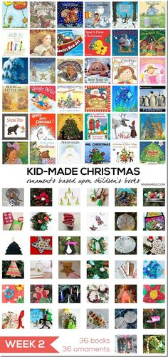 10 Days of a Kid-Made Christmas - featuring ornaments inspired by childrens books! Kids Make Christmas Ornaments, Handmade Christmas Crafts, Christmas Tree Lots, Christmas Activities For Kids, Christmas Gift Decorations, Childrens Christmas, Preschool Christmas, Homemade Christmas Gifts, Christmas Books