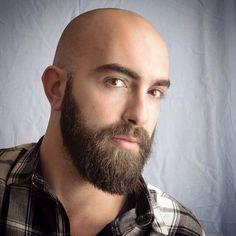 Bald Men With Beards, Bald With Beard, Bald Man, Great Beards, Beard Look, Sexy Beard, Beard Styles For Men, Hair And Beard Styles, Bald Beard Styles