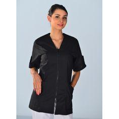 tunique médicale couleur noire manches courtes