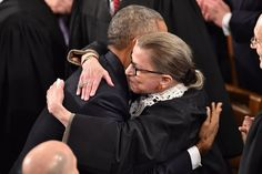 Every Adorable Obama and Ruth Bader Ginsburg SOTU Embrace Through The Years