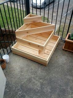 Cedar planter for apartment balcony