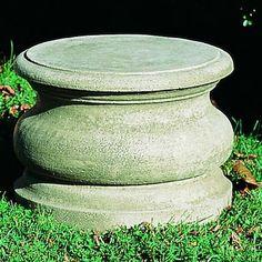 Campania International, Inc Low Round Plain Pedestal Color: Brownstone