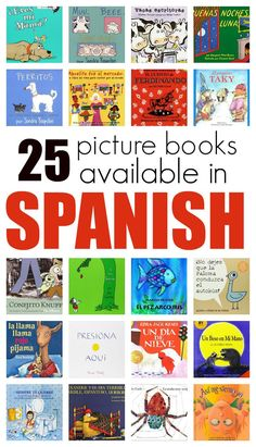 Fantastic picture books in Spanish. This is a great resource to have for English…