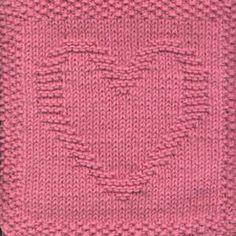 Heart Knit Dishcloth
