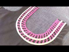 Knitting Patterns Skirt Beautiful Blouse Design Of Latest Front Round Neck Chudi Neck Designs, Dress Neck Designs, Sleeve Designs, Blouse Designs, Blouse Patterns, Simple Embroidery, Silk Ribbon Embroidery, Hand Embroidery Designs, Crochet Patterns Amigurumi