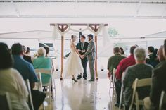 Eco-Friendly Airplane Hanger Wedding: Caitlin + Steven | Green Wedding Shoes Wedding Blog | Wedding Trends for Stylish + Creative Brides