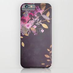 FLOWERS+&+GOLD++iPhone+&+iPod+Case+by+Monika+Strigel+-+$35.00
