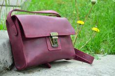 Женская кожаная сумка Nika Marsala