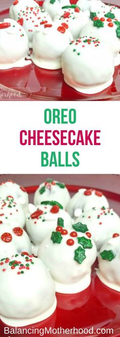 These no-bake Oreo Cheesecake Balls will be the hit of your holiday party. They … These no-bake Oreo Cheesecake Balls will be the hit of your holiday party. They only need three ingredients (plus some festive sprinkles)! Party Desserts, Party Snacks, Holiday Baking, Christmas Desserts, Christmas Treats, Christmas Baking, Holiday Treats, Holiday Recipes, Christmas Recipes