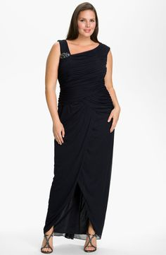 Adrianna Papell 'Bouach' Ruched Gown (Plus)