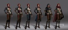 Witcher 3 Triss early concepts 2 by Scratcherpen.deviantart.com on @DeviantArt