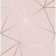 Zara Shimmer Metallic Wallpaper Soft Pink, Rose Gold (ILW980111)