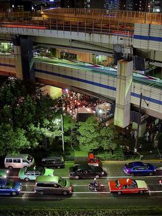 Famous Azabu-juban festival from above! Roppongi Tokyo Japan by Thomas V.