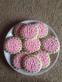 Like the idea of monogramming cookies for table or favors or even having the monogram as the theme