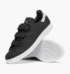 617870ea6ac caliroots.com Stan Smith CF adidas Originals B24536 Velcro Stan! 176580  Black Sneakers,