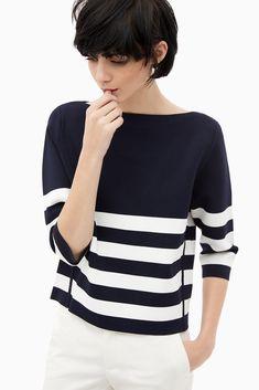 Jersey knit sailor rubber - Capri Blues | Adolfo Dominguez shop online