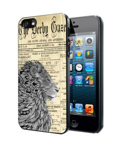 Lion King Aztec Old Newspaper Samsung Galaxy S3/ S4 case, iPhone 4/4S / 5/ 5s/ 5c case, iPod Touch 4 / 5 case