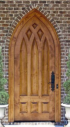 Country French Exterior Wood Entry Door  Style DbyD-2034